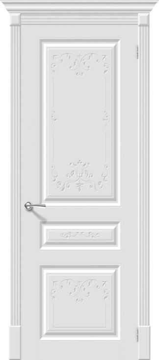 Дверь межкомнатная крашенная «Скинни-14 Аrt» Whitey (Эмаль) глухая